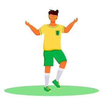 Voetbalfan egale kleur karakter