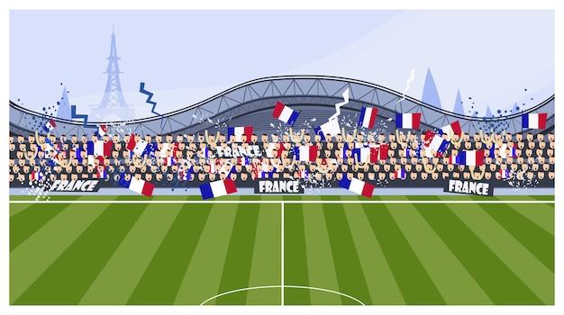 Voetbalfans illustratie