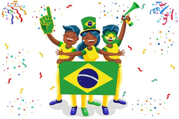 Voetbalfans in brazilië