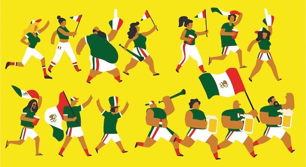 Voetbalfans uit mexico ingesteld