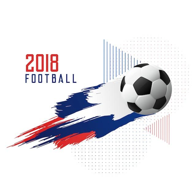 Voetbalkampioenschap 2018 kopje stijlvolle achtergrond