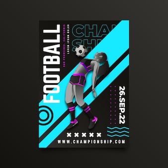 Voetbalkampioenschap posterontwerp