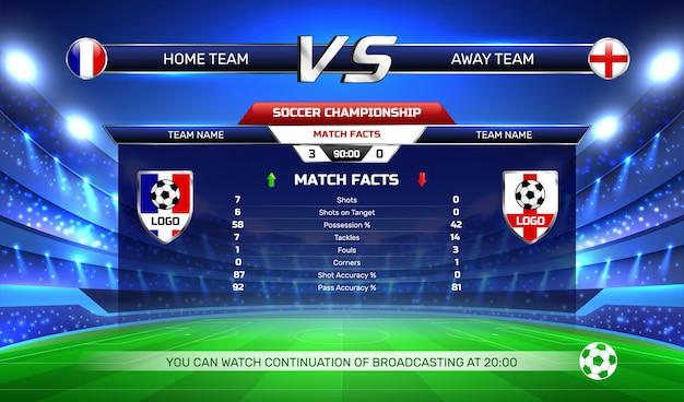 Voetbalkampioenschap uitzending achtergrond