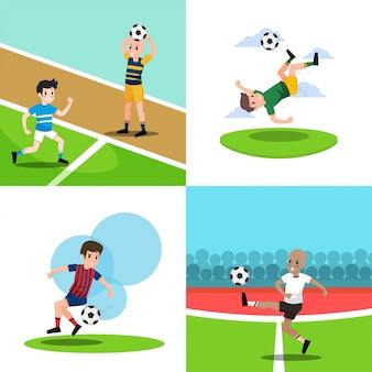 Voetballen illustratie