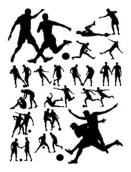Voetballer activiteit silhouet