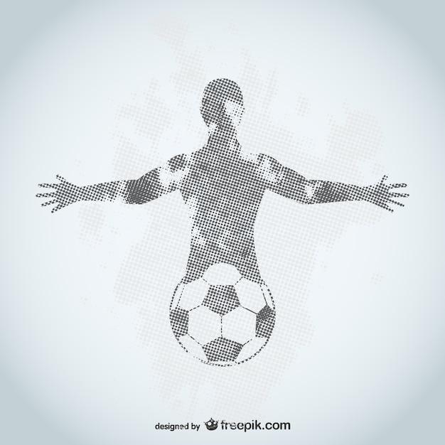 Voetballer grunge ontwerp