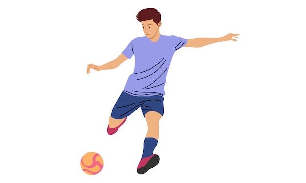 Voetballer illustratie