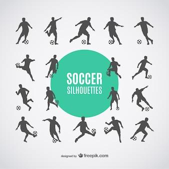 Voetballers silhouetten gratis dowbload