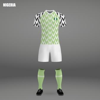 Voetbalpakket van nigeria, t-shirtsjabloon voor voetbaltrui