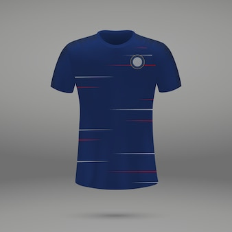 Voetbalset chelsea, shirtsjabloon voor voetbaltrui