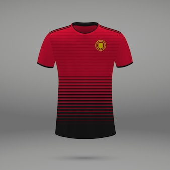 Voetbalset manchester united, shirtsjabloon voor voetbaltrui