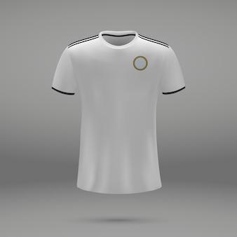 Voetbalset real, shirtsjabloon voor voetbaltrui