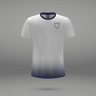 Voetbalset tottenham hotspur, shirtsjabloon voor voetbaltrui