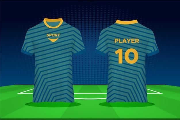Voetbalshirt ontwerp