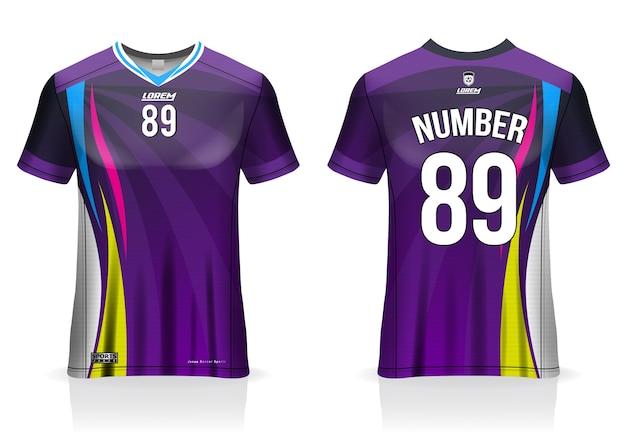 Voetbalshirt sjabloon uniform voor- en achteraanzicht