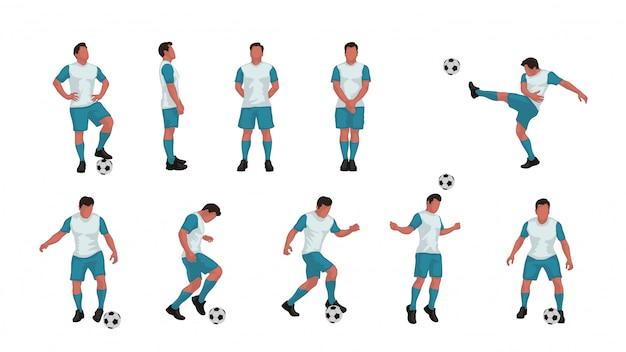 Voetbalspeler set gekleurd