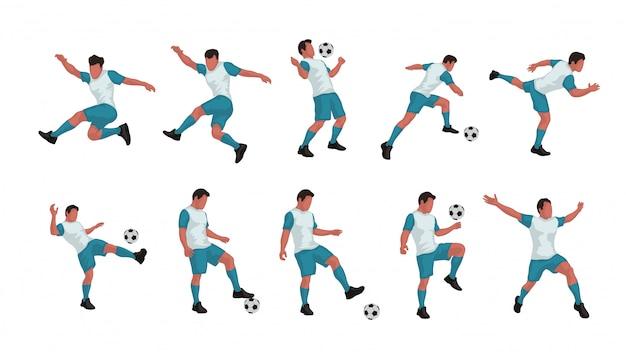 Voetbalspeler set