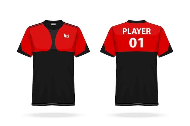 Voetbalsport en esport t-shirt jersey met ronde hals