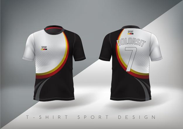 Voetbalsport-t-shirt nauwsluitend met ronde hals.