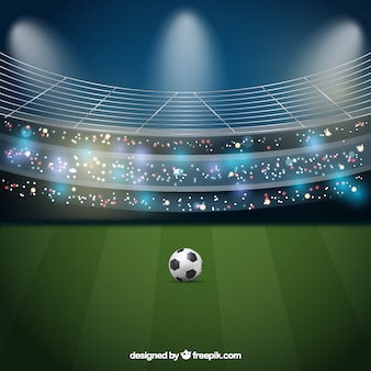 Voetbalstadion achtergrond in realistische stijl