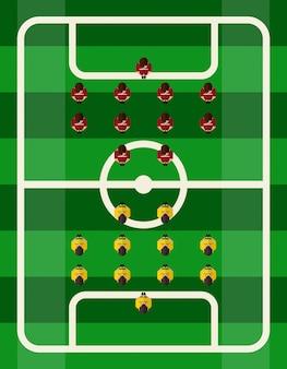 Voetbalstadion bovenaanzicht
