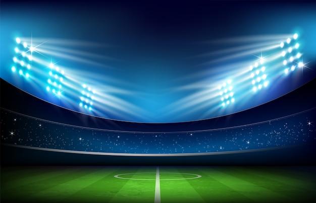 Voetbalstadion en verlichting