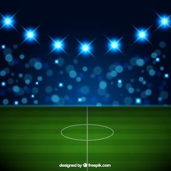 Voetbalstadion in realistische stijl