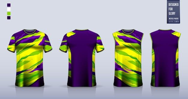 Voetbaltrui of mockup-sjabloonontwerp voor voetbalkit tanktop voor hardloopshirt voor basketbaltrui