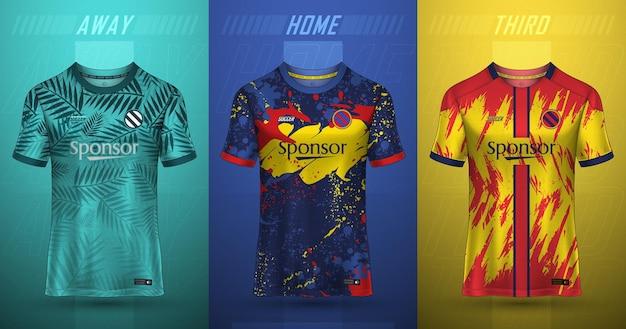 Voetbaltrui sjabloon sport t-shirt ontwerp