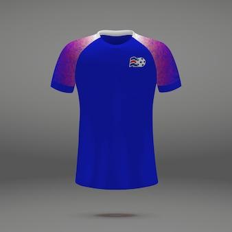 Voetbaluitrusting van ijsland, t-shirtmalplaatje voor voetbal jersey