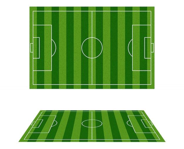 Voetbalveld bovenaanzicht.