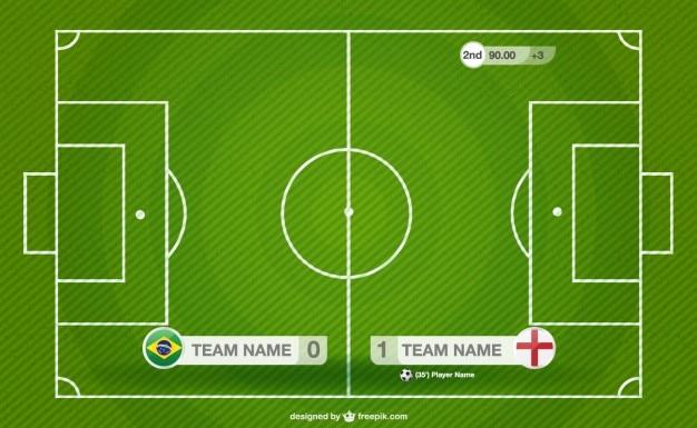 Voetbalveld illustratie