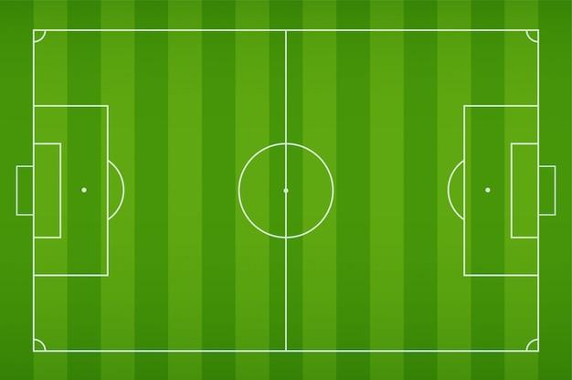 Voetbalveld met schok voor het voetballen