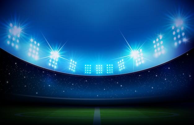 Voetbalveld met stadion