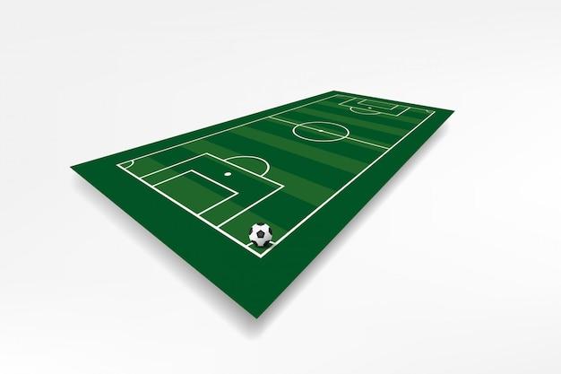 Voetbalveld met voetbal