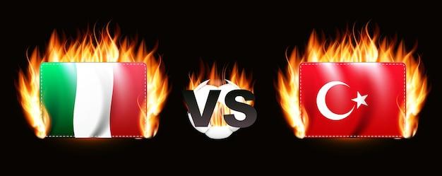 Voetbalwedstrijd championship 2020 rivalry 2021 turkije en italië