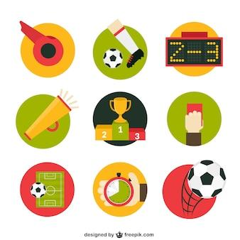 Voetbalwedstrijd pictogrammen