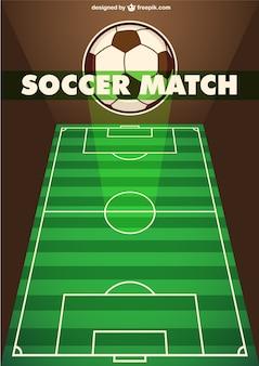 Voetbalwedstrijd sjabloon
