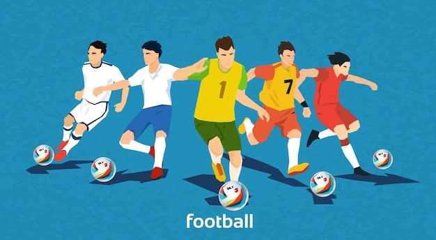 Voetbalwedstrijd teamspelers sportkampioenschap