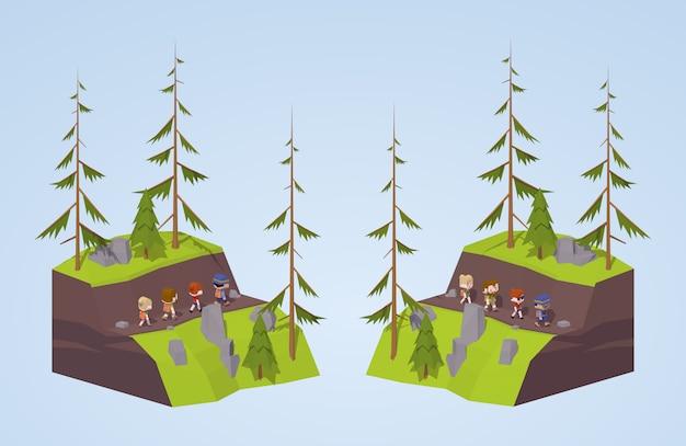 Voetpad in de bergen