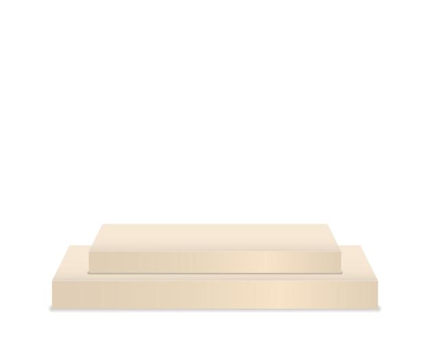 Voetstuk en platform staan podium cilinder rond en vierkant lege podia en podium trappen d