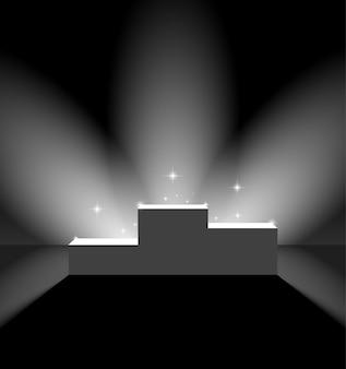 Voetstuk met fakkels op het podium