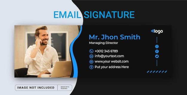 Voettekst voor e-mailhandtekening en bannersjabloon voor sociale media