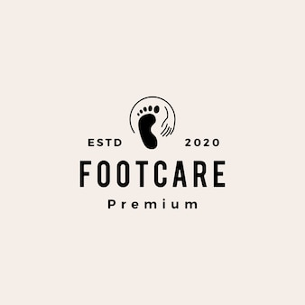 Voetverzorging podiatric vintage logo pictogram illustratie