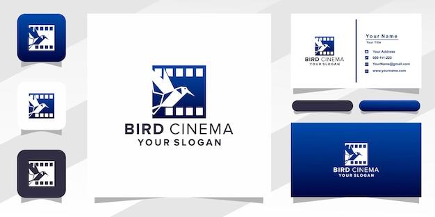 Vogel bioscoop film logo en visitekaartje