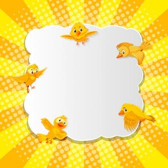Vogel fancy komische cartoon stijl