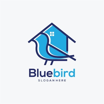 Vogel huis logo ontwerp