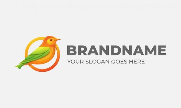 Vogel huisdier logo kleurrijk ontwerp idee