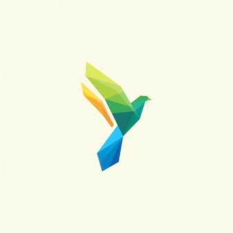 Vogel kleur logo ontwerp inspiratie geweldig