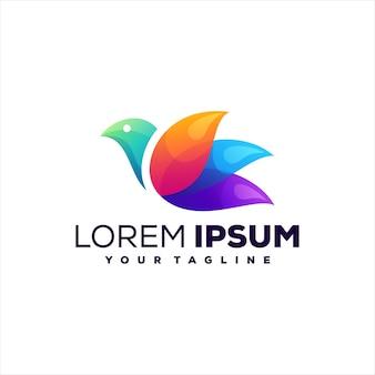 Vogel kleurovergang logo